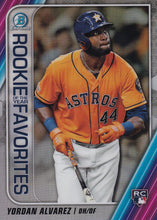 Load image into Gallery viewer, 2020 Bowman - Rookie of the Year Favorites Chrome Refractor Insert: #ROYF-YA Yordan Alvarez