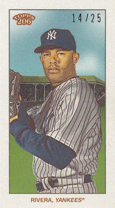 2020 Topps T206 Series 1 MARIANO RIVERA #/25 CYCLE PARALLEL