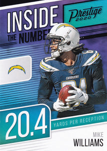 2020 Panini Prestige NFL INSIDE THE NUMBERS BLUE PARALLELS ~ Pick Your Cards