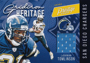 2020 Panini Prestige NFL GRIDIRON HERITAGE RELICS BLUE ~ Pick Your Cards