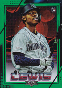 KYLE LEWIS 2020 Topps Fire Baseball GREEN FOIL PARALLEL RC 121/199
