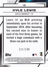 Load image into Gallery viewer, KYLE LEWIS 2020 Topps Fire Baseball GREEN FOIL PARALLEL RC 121/199