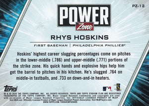 RHYS HOSKINS 2020 Topps Stadium Club RED Foil POWER ZONE ~ Phillies