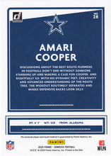 Load image into Gallery viewer, Amari Cooper 2020 Donruss NFL THREADS BLUE Relic ~ Cowboys