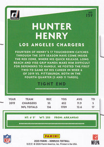 HUNTER HENRY 2020 Donruss NFL SILVER PRESS PROOFS Die Cut 5/75