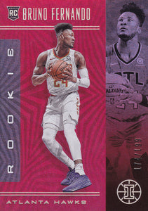 BRUNO FERNANDO 2019-20 Panini Illusions RUBY Parallel RC 174/199 #162 ~ Hawks