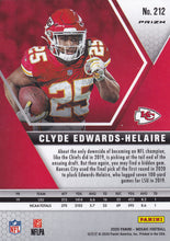 Load image into Gallery viewer, CLYDE EDWARDS-HELAIRE 2020 Panini Mosaic NFL PINK CAMO RC #212 ~ Chiefs