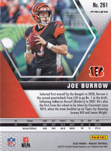 Load image into Gallery viewer, JOE BURROW 2020 Panini Mosaic NFL Debut PINK CAMO RC #261 ~ Bengals