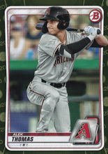 Load image into Gallery viewer, 2020 Bowman Baseball Cards - Prospects CAMO PARALLEL (1-100) ~ Pick your card