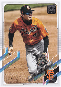 WILMER FLORES 2021 Topps Series 1 ADVANCED STATS VARIATION #8/300