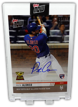 Load image into Gallery viewer, PETE ALONSO 2019 Topps Now AUTO 17/99 ~ First Rookie Cup Card