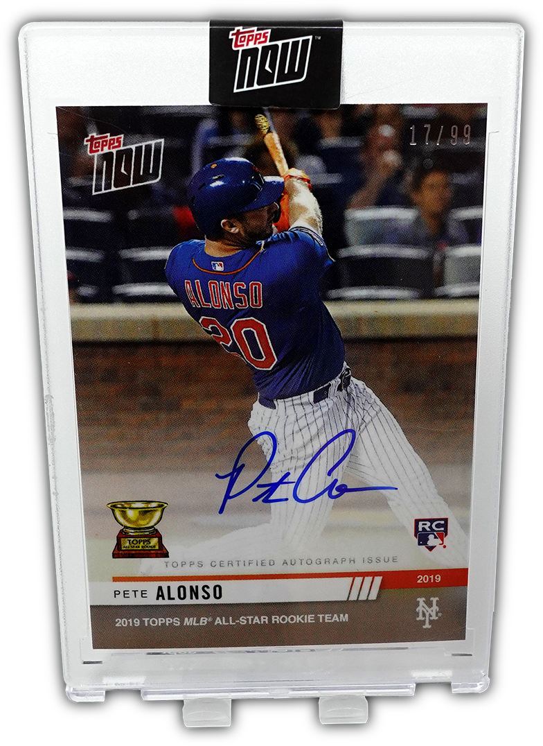 PETE ALONSO 2019 Topps Now AUTO 17/99 ~ First Rookie Cup Card
