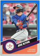 Jose Altuve 2020 Topps 582 Montgomery Brooklyn Collection BLUE Parallel #4/40