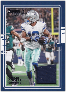 Amari Cooper 2020 Donruss NFL THREADS BLUE Relic ~ Cowboys
