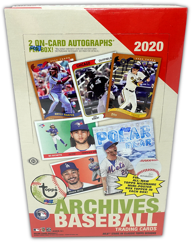 2020 Topps Archives Baseball HOBBY BOX ~ 2 on-card AUTOS