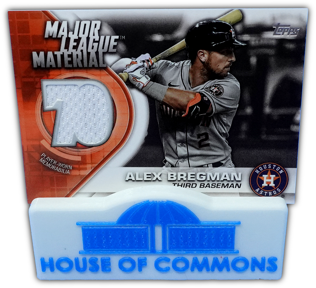 ALEX BREGMAN 2021 Topps Series 1 MAJOR LEAGUE MATERIAL Relic