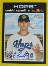 Load image into Gallery viewer, Corbin Carroll AUTO 2020 Topps Heritage Minor League ~ Hillsboro Hops