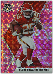 CLYDE EDWARDS-HELAIRE 2020 Panini Mosaic NFL PINK CAMO RC #212 ~ Chiefs
