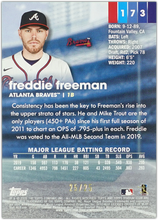 Load image into Gallery viewer, FREDDIE FREEMAN 2020 Topps Stadium Club RAINBOW #25/25 ~ Braves