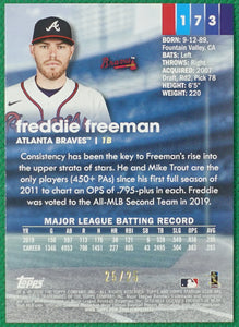 FREDDIE FREEMAN 2020 Topps Stadium Club RAINBOW #25/25 ~ Braves