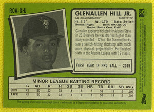 Glenallen Hill Jr. AUTO 2020 Topps Heritage Minor League ~ AZL Diamondbacks