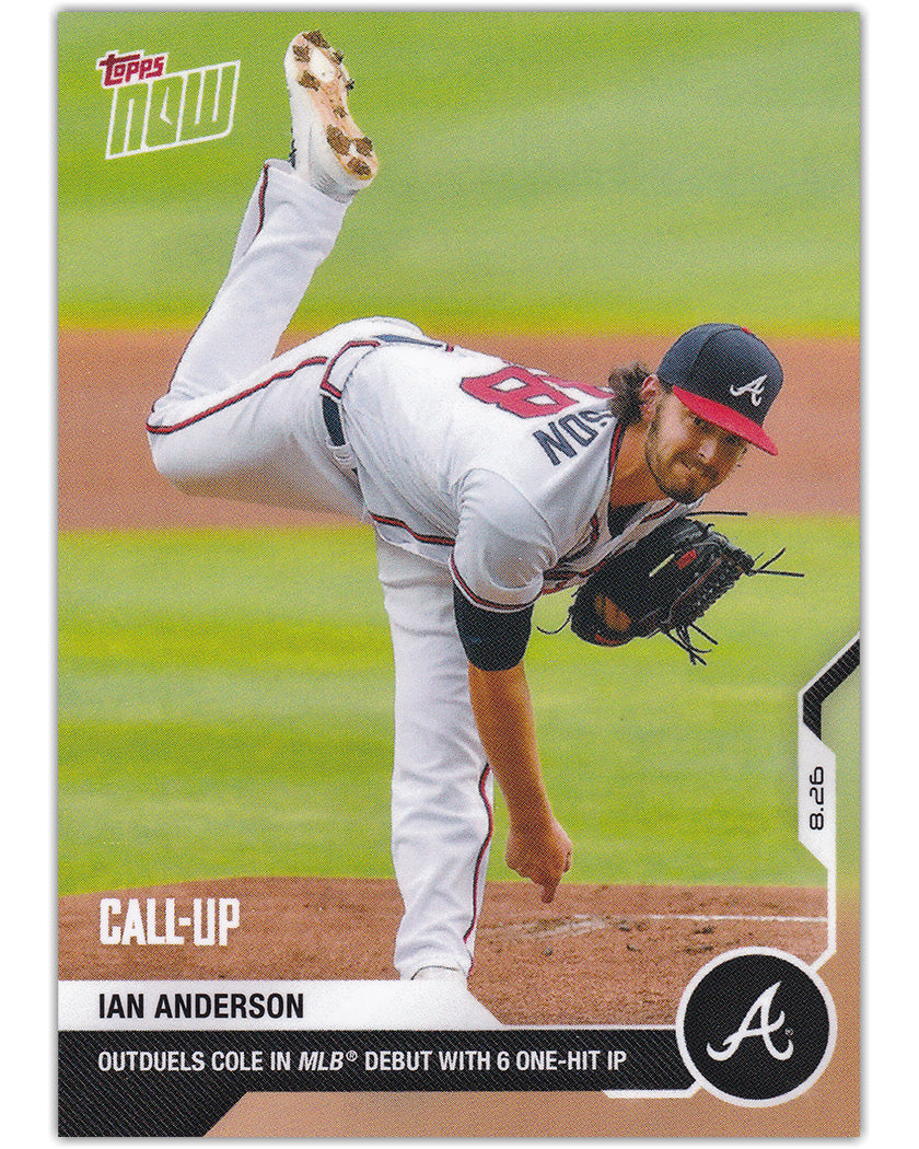 IAN ANDERSON 2020 Topps Now CALL-UP DEBUT RC #161 PR 1746 ~ Braves