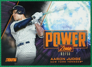 AARON JUDGE 2020 Topps Stadium Club ORANGE POWER ZONE #2/50 ~ Yankees