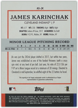 Load image into Gallery viewer, JAMES KARINCHAK 2020 Topps Archives Snapshots Baseball AUTO RC ~ Indians