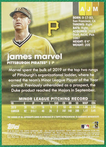 JAMES MARVEL 2020 Topps Stadium Club Baseball AUTO RC ~ Pirates