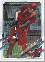 Load image into Gallery viewer, SHOHEI OHTANI 2021 Topps Series 1 Batting VARIATION #150 Baseball Card