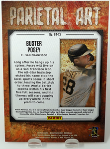 BUSTER POSEY 2020 Panini Diamond Kings PARIETAL ART Insert ~ Giants