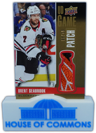 2019-20 BRENT SEABROOK Upper Deck GAME USED PATCH #5/15 ~ Blackhawks