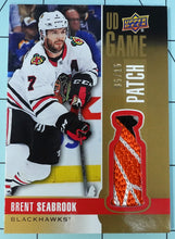 Load image into Gallery viewer, 2019-20 BRENT SEABROOK Upper Deck GAME USED PATCH #5/15 ~ Blackhawks