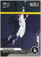 CODY BELLINGER 2020 Topps Now #384 ~ Robs Tatis Jr of Go-Ahead HR NLDS 2020