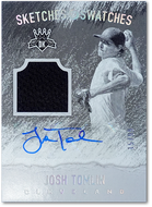 JOSH TOMLIN 2017 Panini Diamond Kings SKETCHES & SWATCHES /99 AUTO RELIC