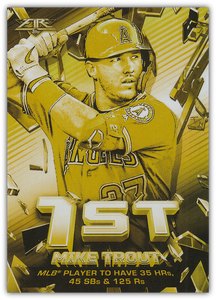2020 Topps Fire Baseball SHATTERING STATS GOLD MINTED INSERTS ~ Pick your card