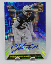 Load image into Gallery viewer, YETUR GROSS-MATOS 2020 Donruss Elite Football BLUE AUTO 03/10
