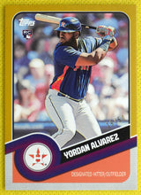 Load image into Gallery viewer, YORDAN ALVAREZ 2020 Topps 582 Montgomery Brooklyn Collection GOLD Parallel #19/50