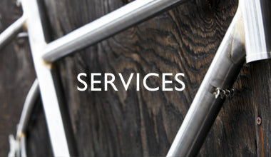 SERVICES + Full service repair & Custom Frames