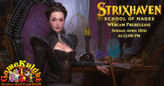 Strixhaven Prerelease this Sunday, and more MTG sets available