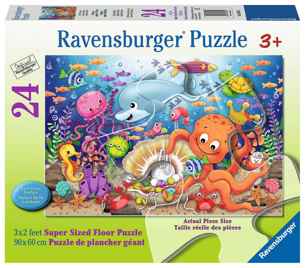Puzzle Rb 24 Piece Fishie's Fortune (super Sized) | GameKnight Games
