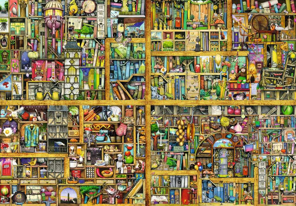 Puzzle Rb 18000 Pcs Magical Bookcase | GameKnight Games