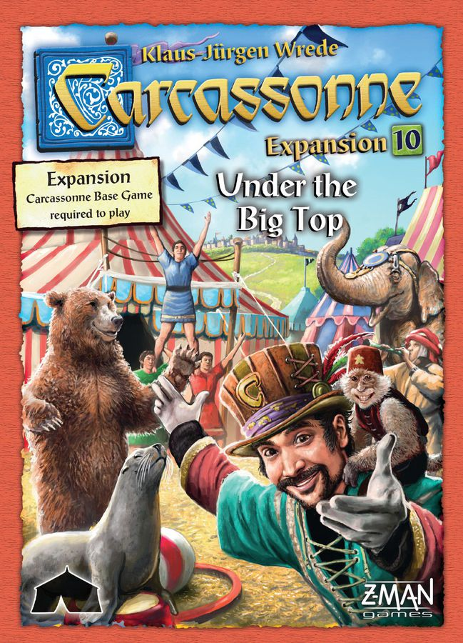Bg Carcassonne Exp 10: Under The Big Top | GameKnight Games