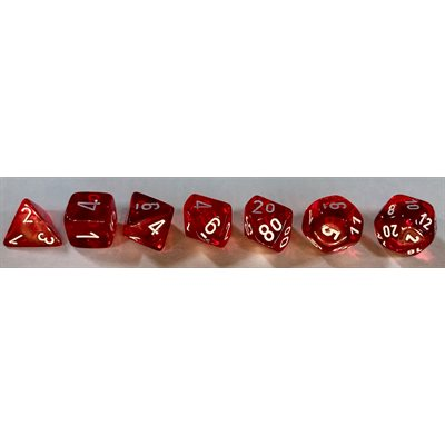 Chx Poly Translucent Red/white (new) | GameKnight Games
