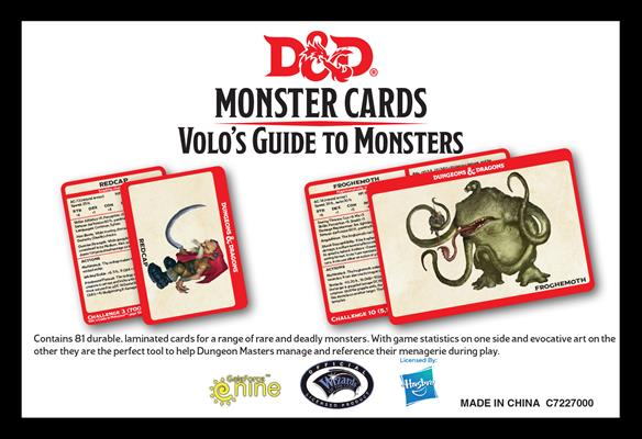 Dd5 Monster Cards Volo's Guide To Monsters