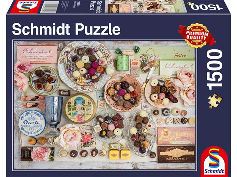 Puzzle Schmidt 1500 Nostalgic Chocolates | GameKnight Games