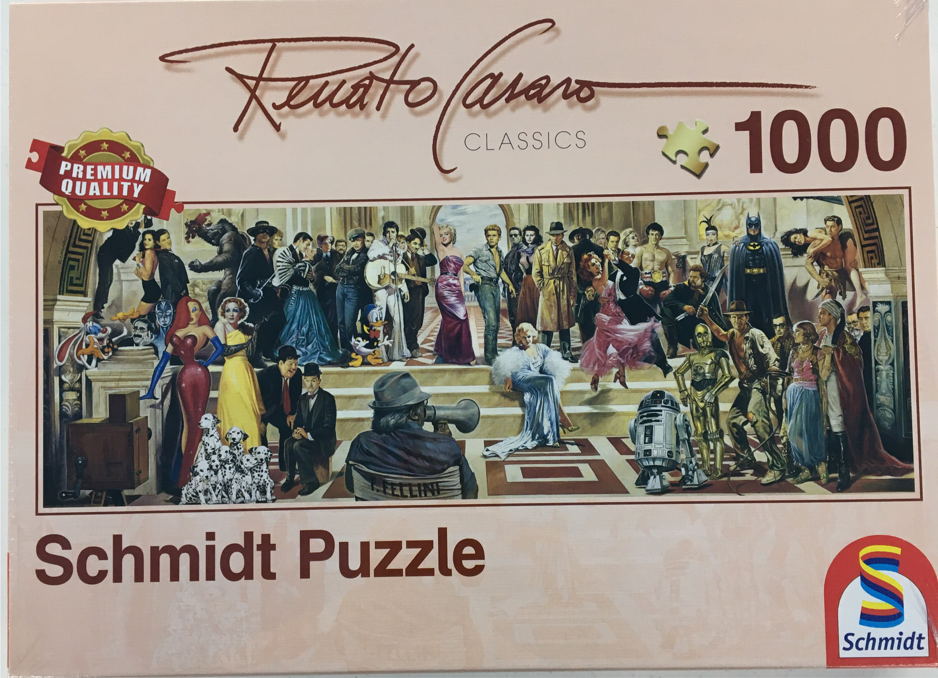 Puzzle Schmidt 1000 100 Years Of Film Panoramic | GameKnight Games
