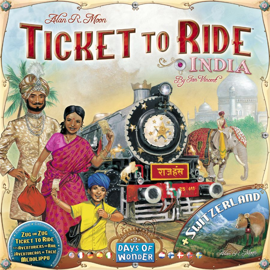 Bg Ticket To Ride Map 2 India | GameKnight Games
