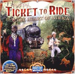 Bg Ticket To Ride Map 3 Africa | GameKnight Games