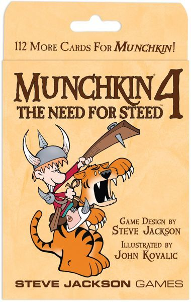 Munchkin 4 The Need For Steed Expansion | GameKnight Games